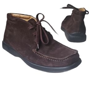 GEOX Brown Suede lace up Boots size 41.5 (8.5)